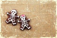 Esqueletos dos biscoitos Fotografia de Stock Royalty Free