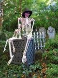 Esqueletos no cemitério Fotografia de Stock Royalty Free
