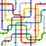 Esquema abstracto del metro del color ilustración del vector