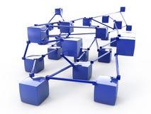 Esquema abstrato da rede 3d Fotos de Stock