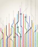 Esquema abstrato do metro da cor Imagens de Stock Royalty Free