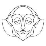Esquema aislado de Shakespeare ilustración del vector