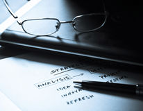 Esquema conceptual para uma estratégia empresarial Imagem de Stock Royalty Free