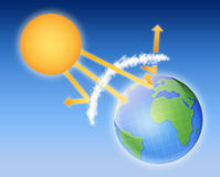 Esquema da atmosfera da Terra Fotos de Stock Royalty Free