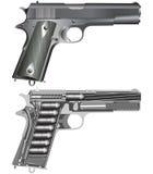 Esquema da pistola Imagens de Stock Royalty Free