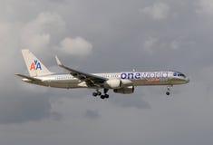 Esquema de color especial de American Airlines Foto de archivo