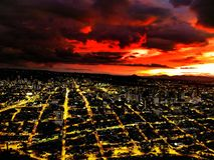 esquema de cores bonito em uma cidade bonita imagem de stock