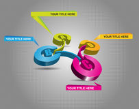 esquema de cores 3d com etapas e etiquetas de ABCD Fotografia de Stock Royalty Free