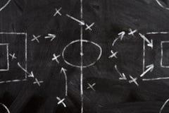 Esquema de la estrategia del fútbol Fotografía de archivo