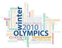 Esquema de la palabra GFX de las Olimpiadas de Vancouver Foto de archivo libre de regalías