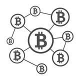 Esquema de la red de Blockchain Imagen de archivo