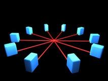 Esquema de la topología de red Imagen de archivo libre de regalías
