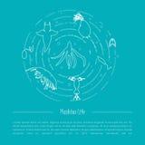 Esquema de la vida del plancton Imagen de archivo libre de regalías