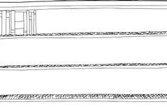 Esquema de libros en esquina del estante ilustración del vector