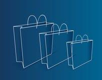 Esquema de los bolsos de compras Fotos de archivo libres de regalías