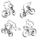 Esquema de los ciclistas stock de ilustración