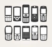 Esquema de los teléfonos celulares Foto de archivo libre de regalías