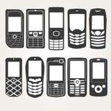 Esquema de los teléfonos celulares Imágenes de archivo libres de regalías