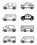 Esquema de los vehículos del juguete del niño Foto de archivo