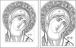 Esquema de Oplechnaya de la Virgen Imagenes de archivo