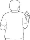 Esquema de Person Holding Book libre illustration