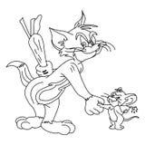 Esquema de personaje de dibujos animados ilustración del vector