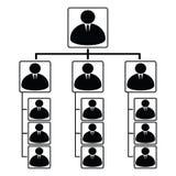 Esquema de pirámide ilustración del vector