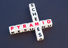 Esquema de pirâmide Fotografia de Stock