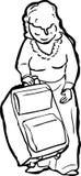 Esquema de señora Lifting Suitcase Fotos de archivo libres de regalías