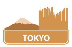 Esquema de Tokio Foto de archivo
