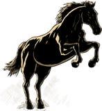 Esquema de un caballo. stock de ilustración