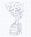 Esquema de una mochila Fotografía de archivo libre de regalías