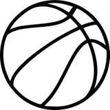 Esquema del baloncesto ilustración del vector