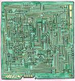 Esquema del cableado del PWB Fotos de archivo libres de regalías