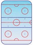 Esquema del campo del hockey sobre hielo. Fotografía de archivo libre de regalías