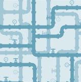 Esquema del circuito de agua Fondo inconsútil Foto de archivo libre de regalías