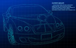 Esquema del coche de la boda ilustración del vector