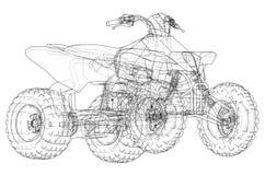 Esquema del concepto del quadbike de ATV Vector Foto de archivo libre de regalías