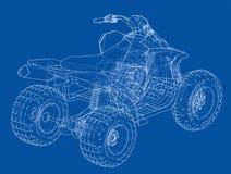 Esquema del concepto del quadbike de ATV Vector Fotos de archivo
