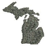 Esquema del dólar de Michigan Imagenes de archivo
