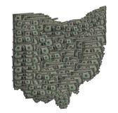 Esquema del dólar de Ohio Foto de archivo libre de regalías