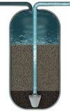 Esquema del filtro de agua Imagen de archivo