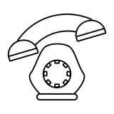 esquema del hogar del dispositivo de la comunicación del teléfono stock de ilustración