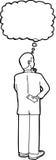Esquema del hombre de negocios Thinking Imagen de archivo libre de regalías