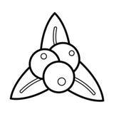 Esquema del icono de Bluberry Foto de archivo libre de regalías