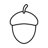 Esquema del icono de la bellota Fotografía de archivo libre de regalías