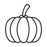 Esquema del icono de la calabaza Fotografía de archivo libre de regalías
