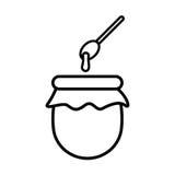 Esquema del icono de la miel Imagen de archivo