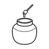 Esquema del icono de la miel Foto de archivo