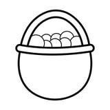 Esquema del icono del huevo Fotografía de archivo libre de regalías